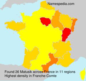Surname Matusik in France