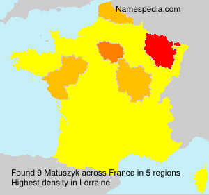 Surname Matuszyk in France