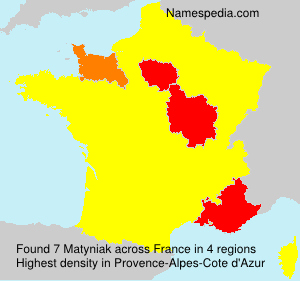Surname Matyniak in France