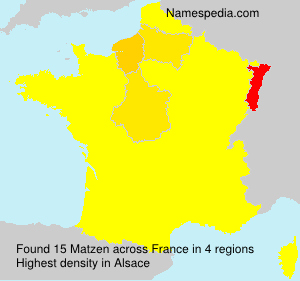Surname Matzen in France