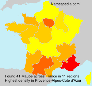 Surname Maube in France