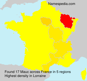 Surname Mauc in France