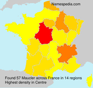 Surname Maucler in France