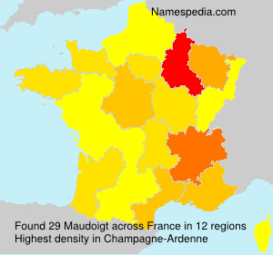Surname Maudoigt in France