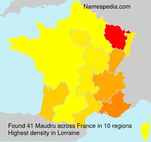 Familiennamen Maudru - France