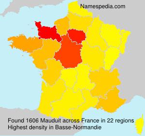 Familiennamen Mauduit - France