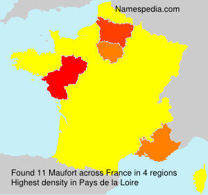 Surname Maufort in France