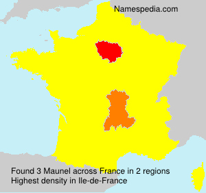 Surname Maunel in France