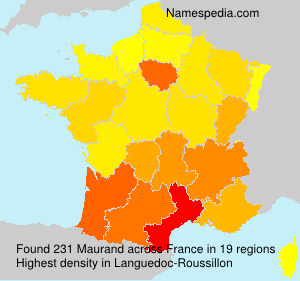 Surname Maurand in France