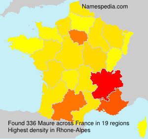 Surname Maure in France