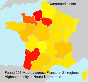 Surname Maurey in France