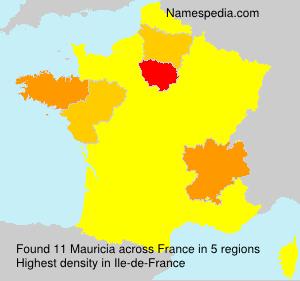 Familiennamen Mauricia - France