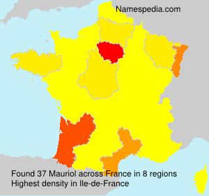 Surname Mauriol in France