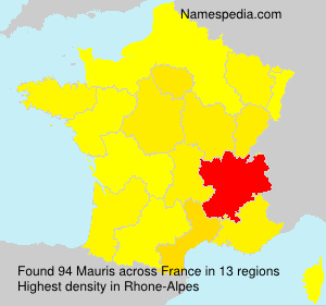 Surname Mauris in France