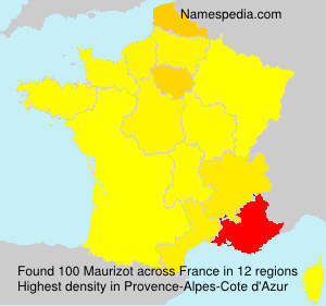Surname Maurizot in France