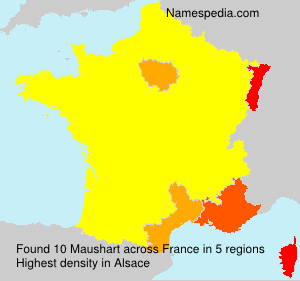 Surname Maushart in France