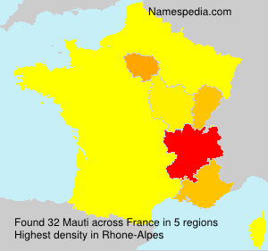 Surname Mauti in France