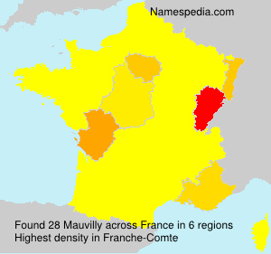 Surname Mauvilly in France