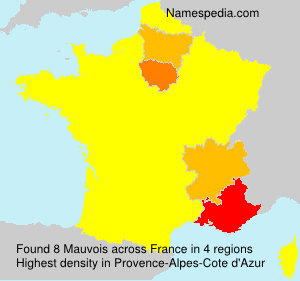 Surname Mauvois in France