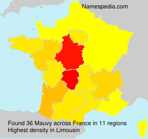 Surname Mauvy in France