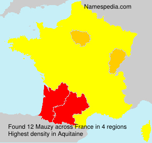 Surname Mauzy in France