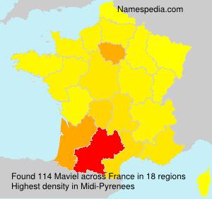 Surname Maviel in France