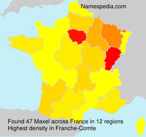 Surname Maxel in France