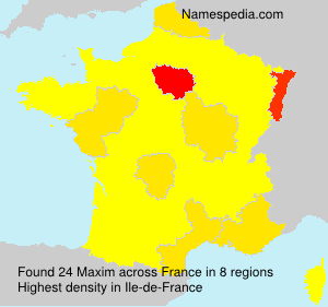 Surname Maxim in France
