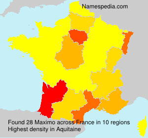 Surname Maximo in France