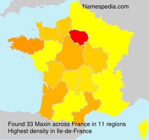 Familiennamen Maxin - France