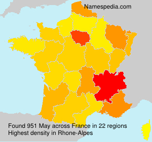 Surname May in France