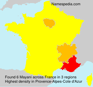 Surname Mayani in France