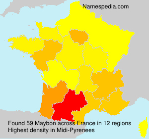 Surname Maybon in France