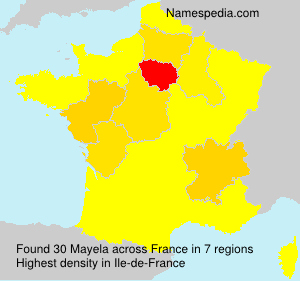Surname Mayela in France