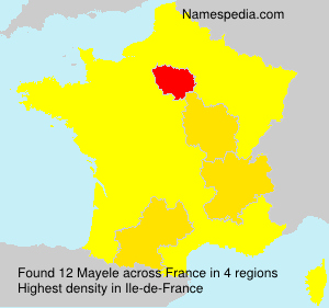 Surname Mayele in France
