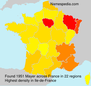 Surname Mayer in France