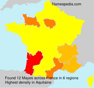 Surname Mayes in France