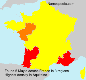 Surname Mayle in France