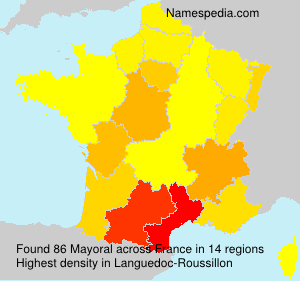 Surname Mayoral in France