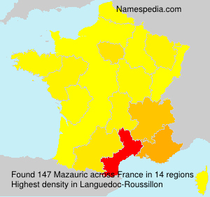Surname Mazauric in France