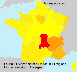 Surname Mazen in France