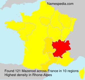 Familiennamen Mazenod - France