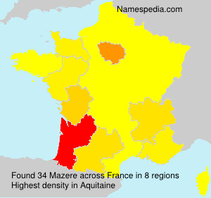 Surname Mazere in France