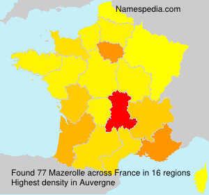 Surname Mazerolle in France