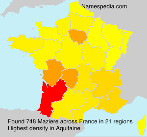 Surname Maziere in France