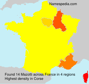 Surname Mazotti in France