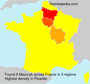 Surname Mazuryk in France
