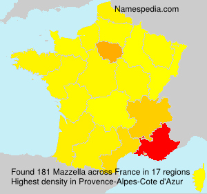 Surname Mazzella in France