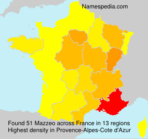 Surname Mazzeo in France