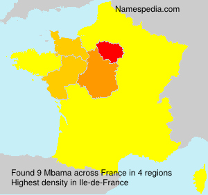 Surname Mbama in France